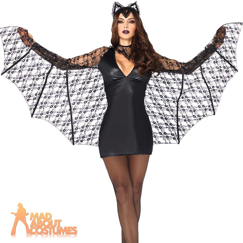 moonlight bat wings costume vampire adult halloween fancy dress leg