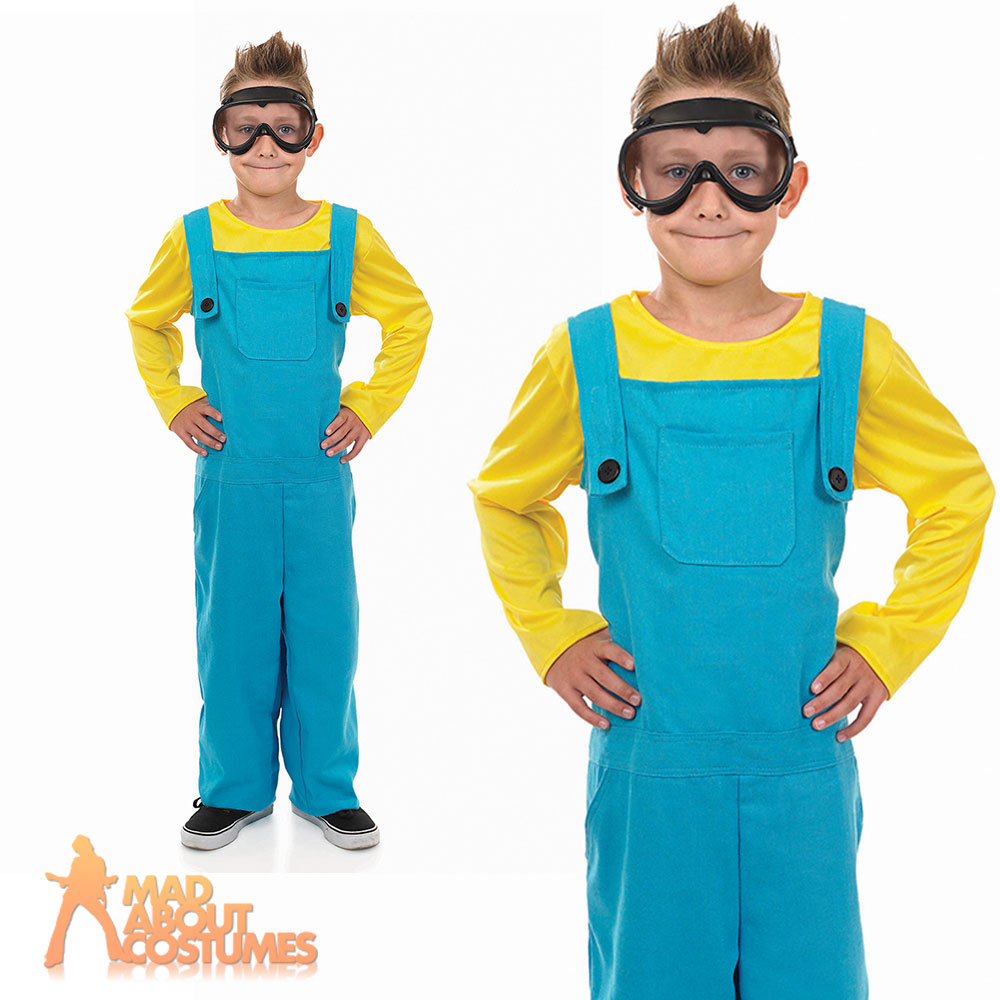 Child Minion Little Welder Boys Costume Book Week Day Fancy Dress Outfit New