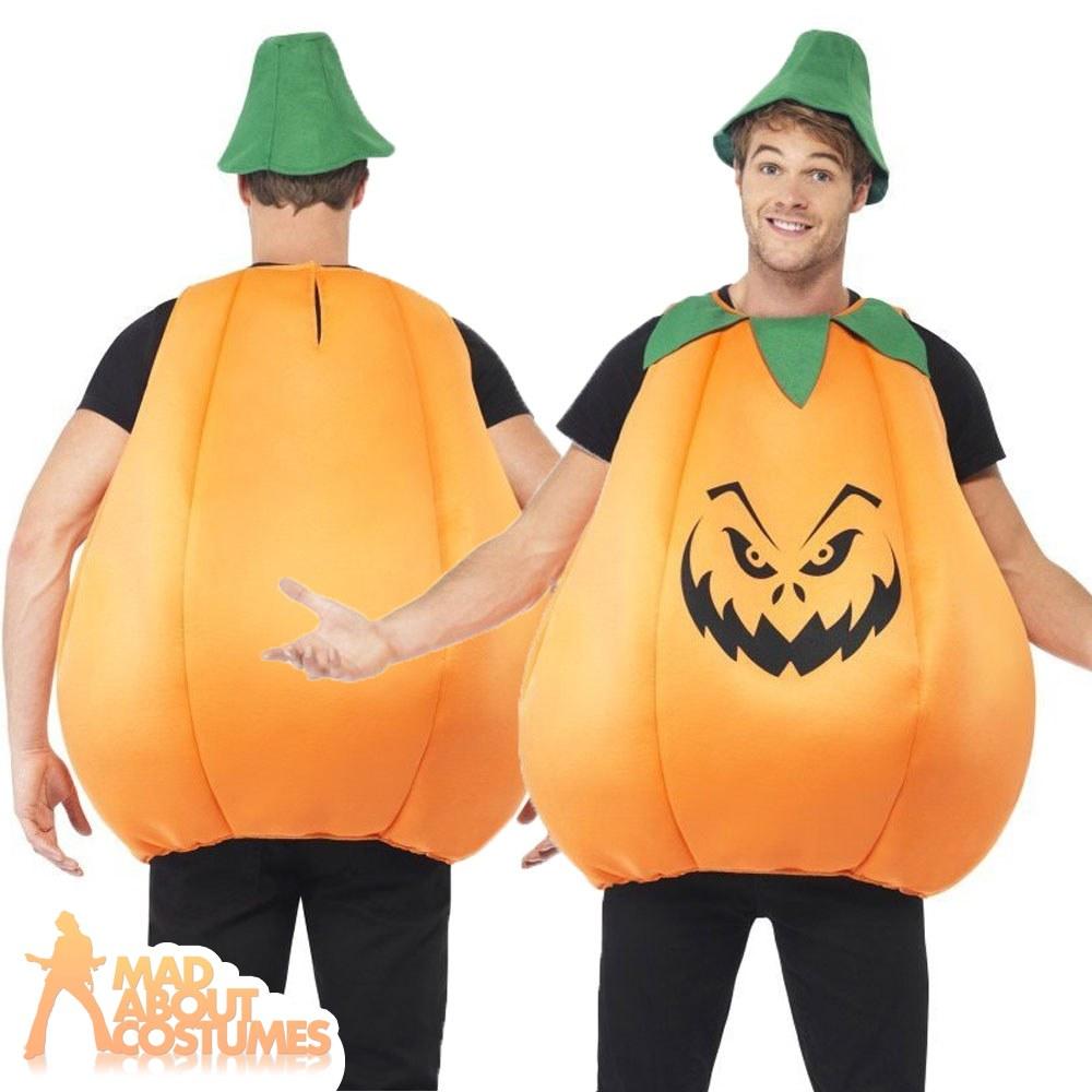 adult pumpkin costume mens ladies womens halloween fancy dress