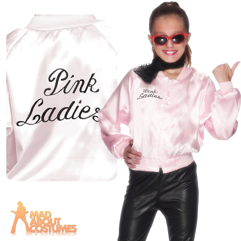 Womens-Pink-Ladies-Jacket-1950s-50s-Grease-Adult-Girls-Fancy-Dress-Costume