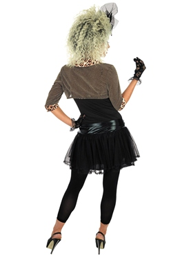 80's Pop Star Fancy Dress Costume (Black) by Fun Shack - Image 2