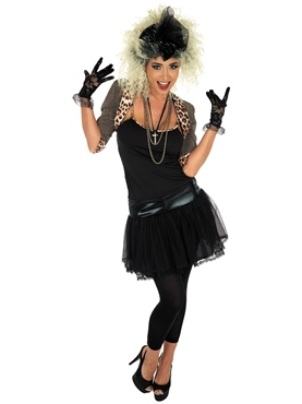 80's Pop Star Fancy Dress Costume (Black) by Fun Shack - Image 1