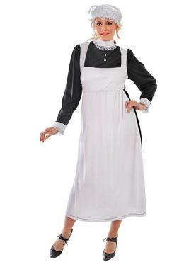Adult Victorian Maid Fancy Dress Costume by Bristol Novelty Ltd