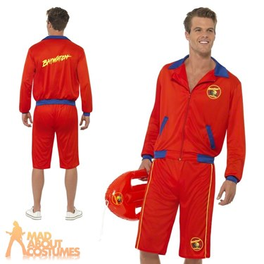Baywatch Beach Men's Lifeguard Fancy Dress Costume by Smiffy's