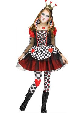 child queen of hearts fancy dress costume by palmer agencies