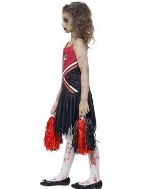 Girls zombie cheerleader costume teen cheerless halloween school child zombie cheerleader fancy dress costume by smiffys image 1 solutioingenieria Gallery