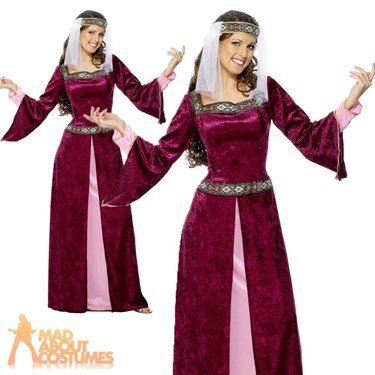 Maid Marion Fancy Dress Costume Purple by Smiffy's