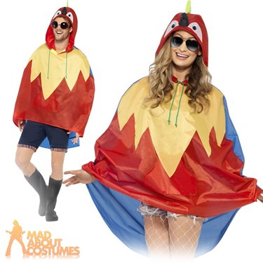 Parrot Party Poncho Festival Fancy Dress Costume by Smiffy's - Image 1