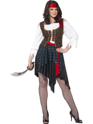 Pirate Lady Fancy Dress Costume by Smiffy's