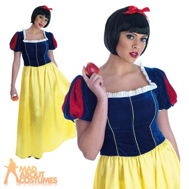 Adult Snow White Long Dress Fancy Dress Costume by Fun Shack
