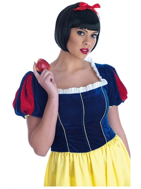 Adult Snow White Long Dress Fancy Dress Costume by Fun Shack - Image 1