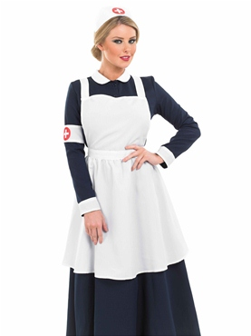 Victorian Nurse Fancy Dress Costume by Fun Shack