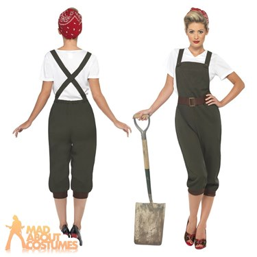 WW2 Land Girl Fancy Dress Costume by Smiffys